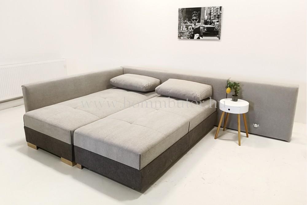 AIR nagy méretű (308x212 cm) L-alakú sarokgarnitúra ágyazható akár mindennapos alvásra
