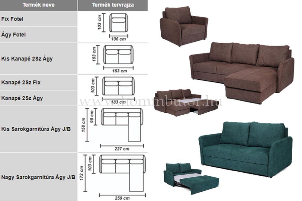 LORA L-alakú ülőgarnitúra 259x172 cm