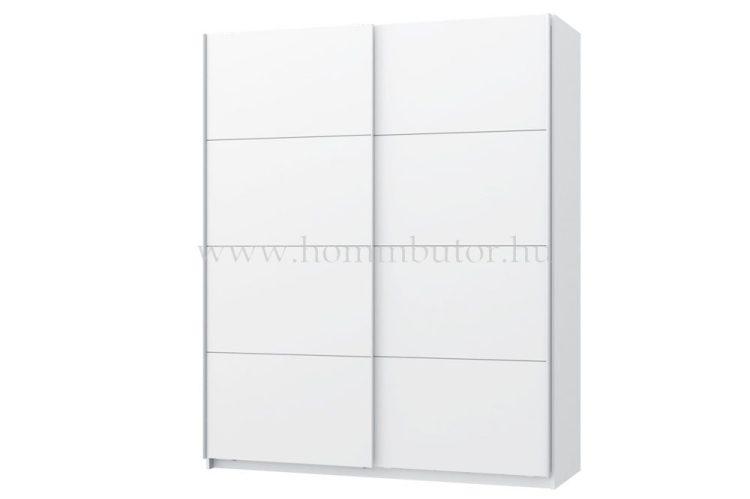 WHITE FLAG tolóajtós gardróbszekrény 220x210 cm polcszettel