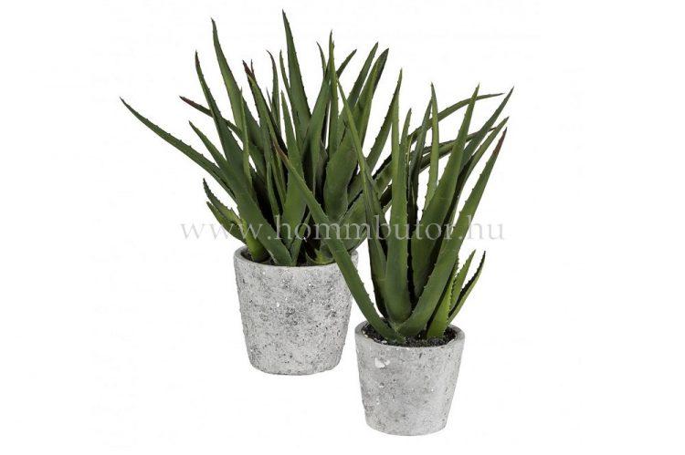 ALOE VERA élethű növény dekoráció 40 cm magas