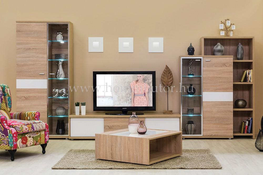 BLING vitrines szekrény 2 ajtós 87x192 cm