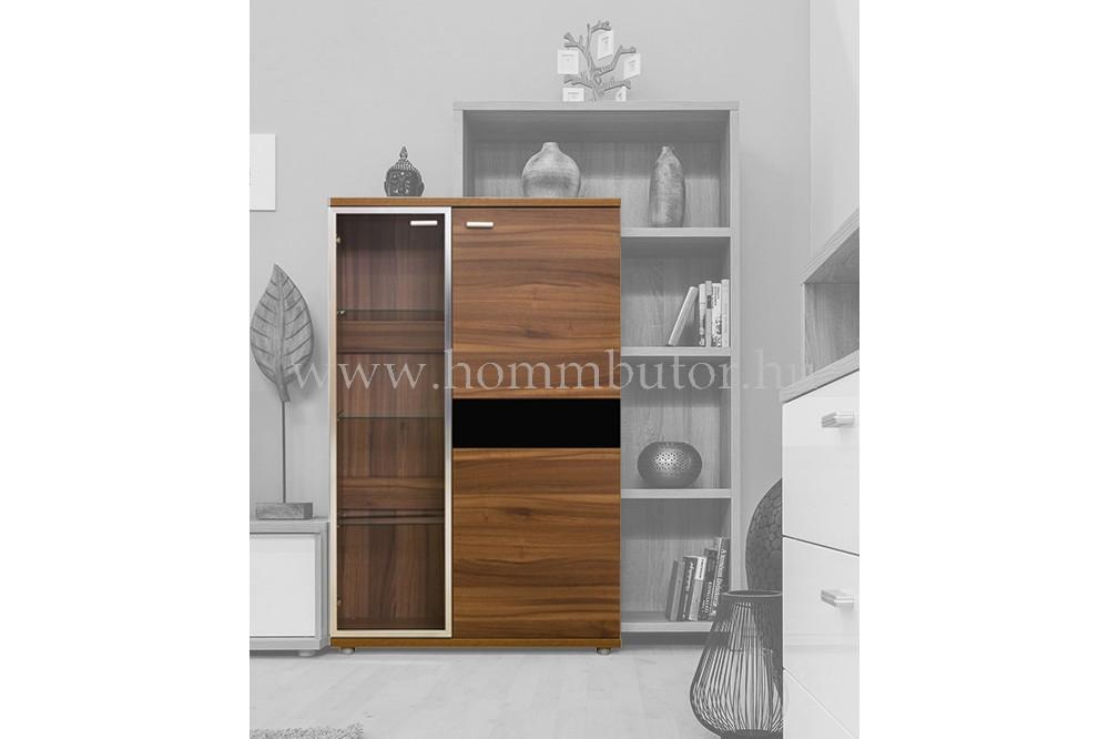 BLING vitrines komód 2 ajtós 87x136 cm