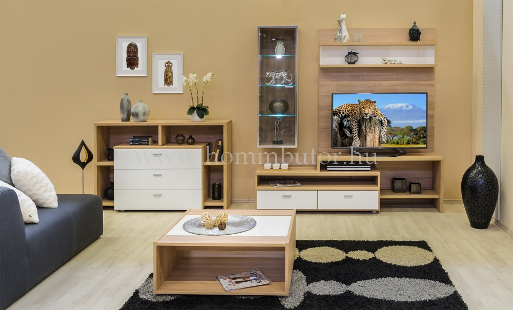 BLING TV-állvány 2 fiókos 122x37 cm