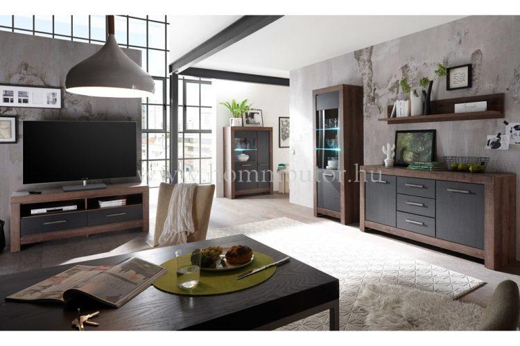 BALIN elemes nappali bútorcsalád kb. 309x197x45 cm * pl. 2 fiókos TV-állvány *
