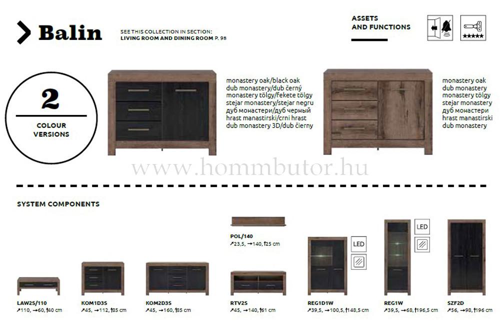 BALIN elemes nappali bútorcsalád * pl. 2 fiókos TV-állvány *