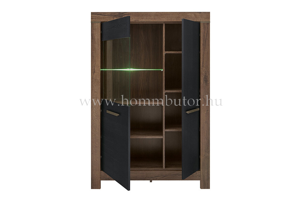 BALIN vitrines szekrény 2 ajtós 101x149 cm