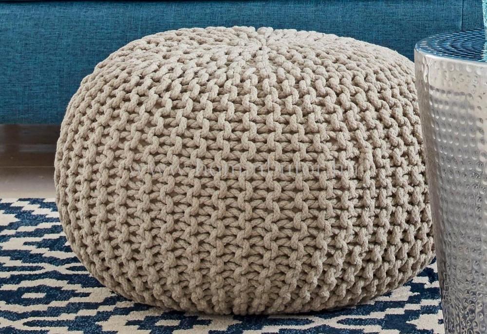 BERRY pamut ülőke Ø55 cm krém színben