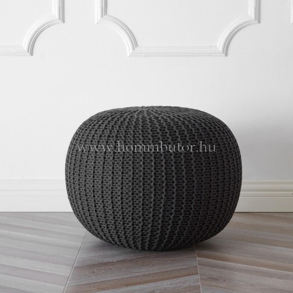 BERRY pamut ülőke Ø55 cm sötétszürke színben