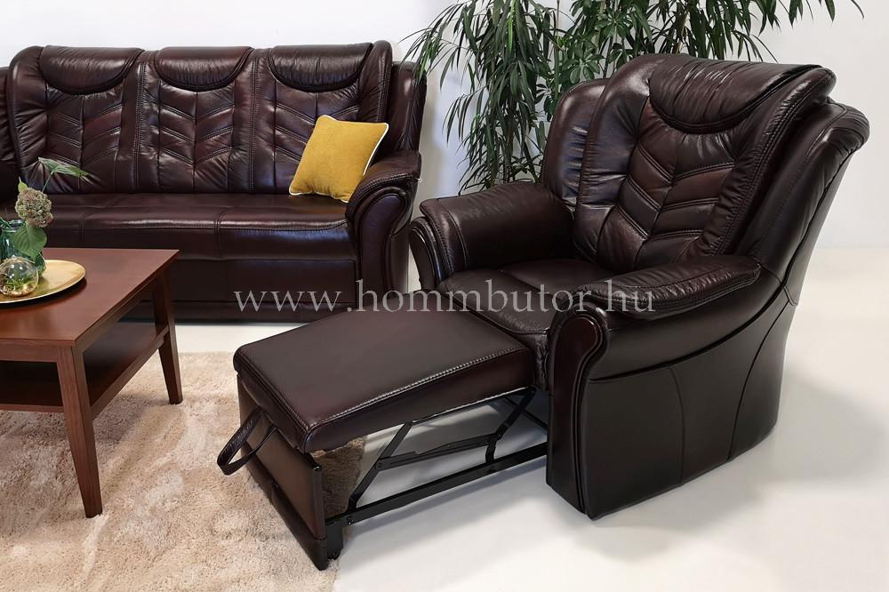 BIANKA bőr fix fotel 102x92 cm