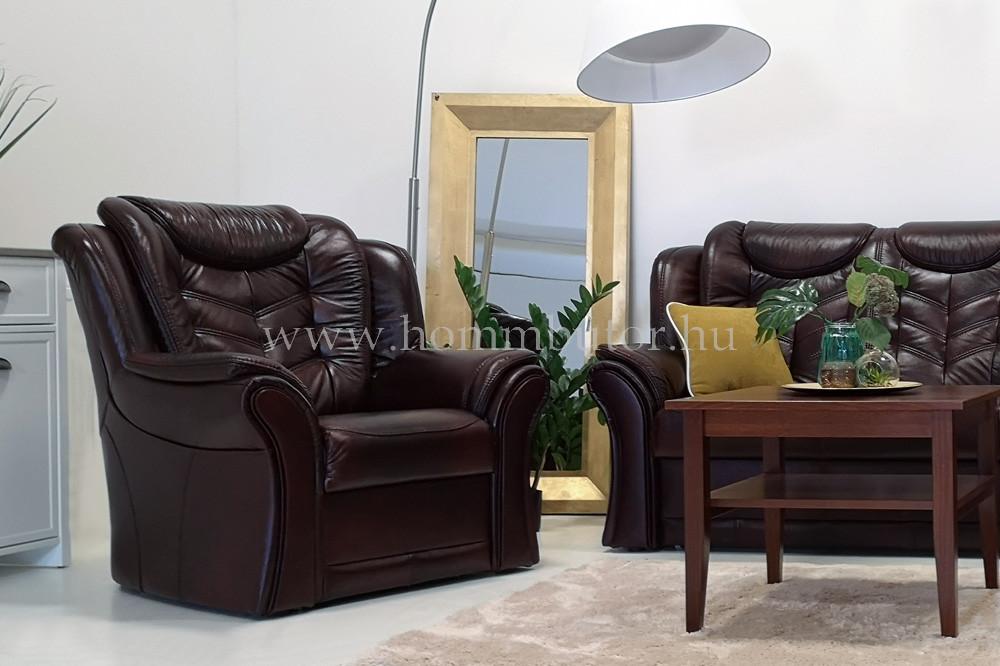 BIANKA bőr lábtartós fotel 102x92 cm