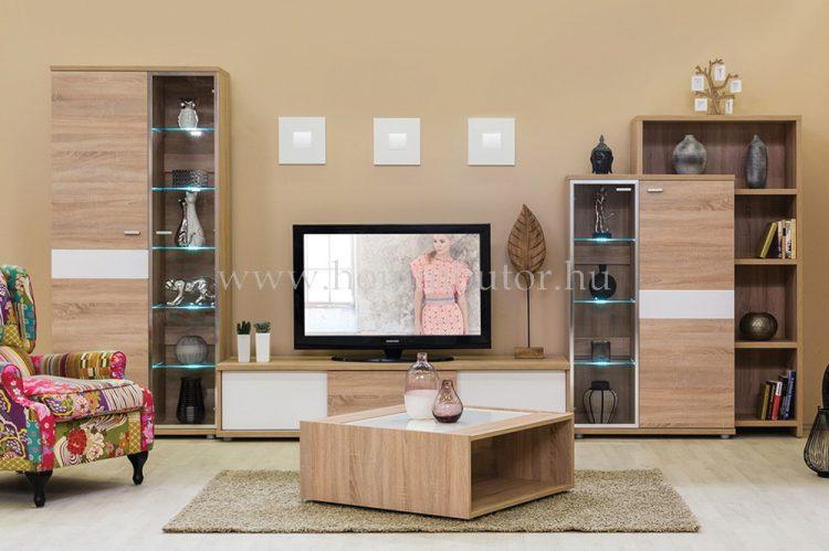 BLING elemes nappali bútorcsalád kb. 396x195x50 cm * pl. 2 tolóajtós TV-állvány *