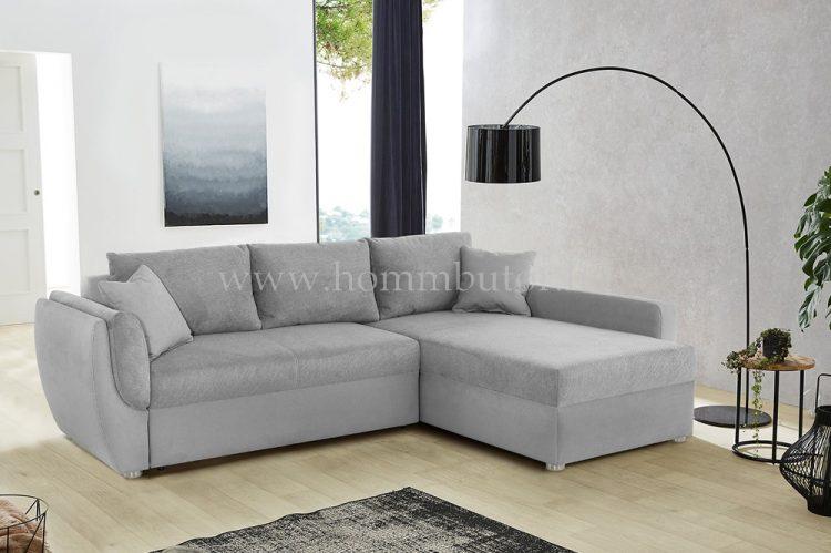 BOLKA kis méretű (247x178cm) L-alakú sarok ülőgarnitúra, ágyazható, ágyneműtárolós, háromféle színben