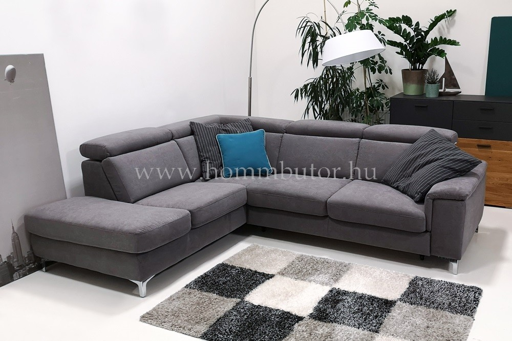 BRAVISSIMO közepes méretű (263x214cm) L-alakú sarok ülőgarnitúra, ágyazható