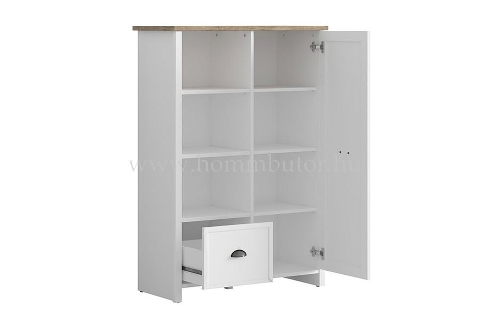 CANNET szekrény 1 ajtós 1 fiókos 3 polcos 90x131 cm