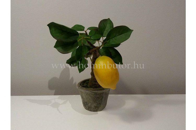 CITROMFA élethű növény dekoráció 32 cm magas