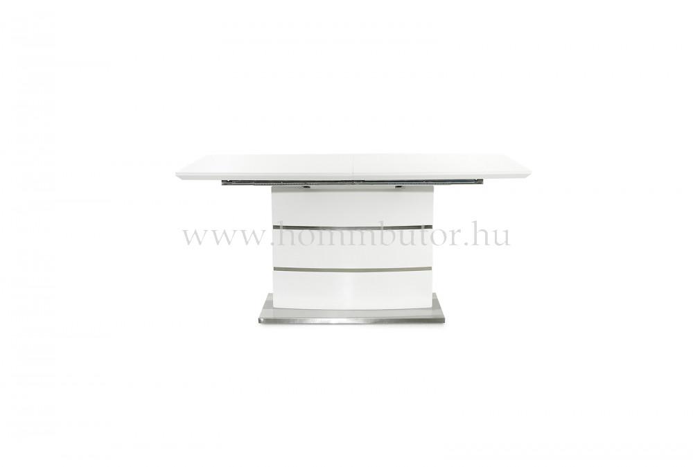 COCKTAIL étkezőasztal 160x90 cm bővíthető magasfényű fehér
