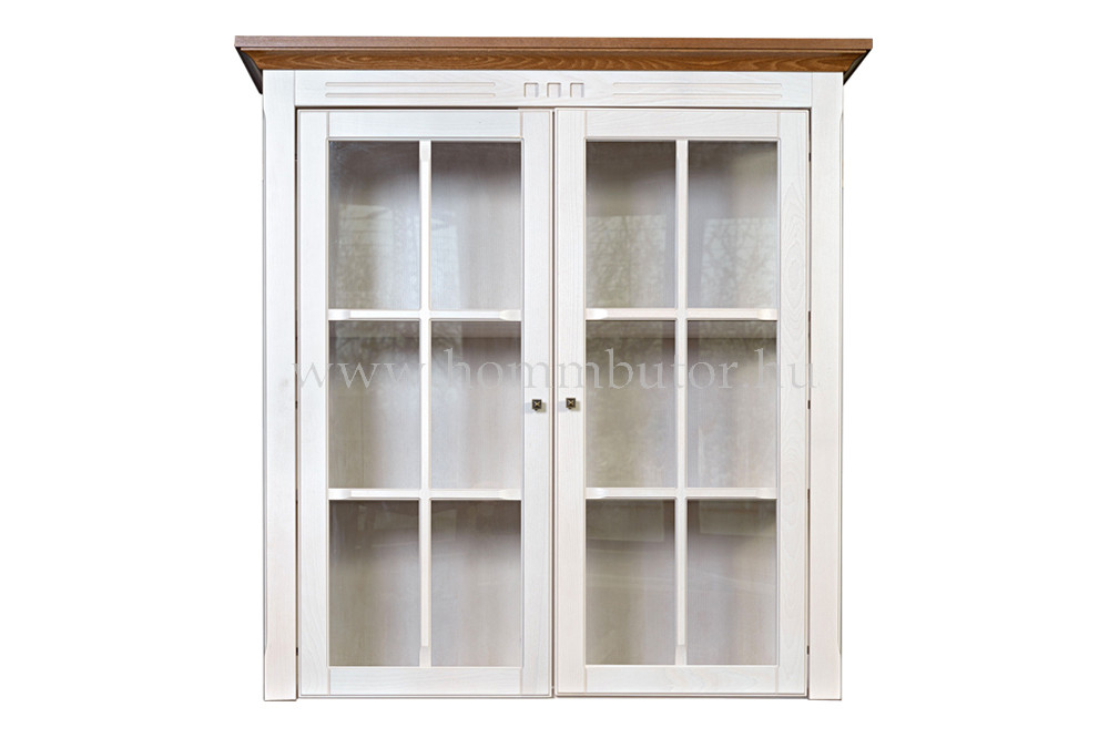 CONCERTO felső vitrin 2 üvegajtós 110x115 cm