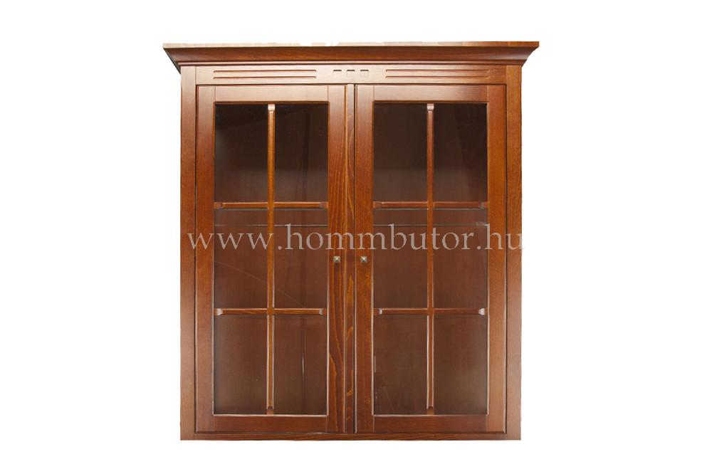 CONCERTO CASTELLO felső vitrin 2 üvegajtós 110x115 cm