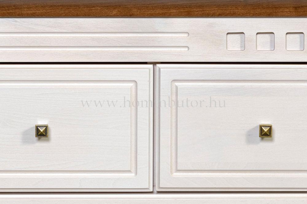 CONCERTO CASTELLO komód 2 ajtós 3 fiókos 110x127 cm