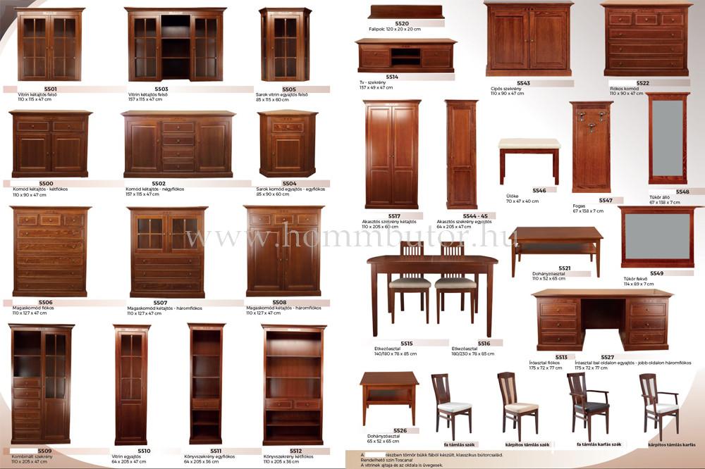 CONCERTO CASTELLO szekrény 2 fiókos 5 polcos 110x205 cm