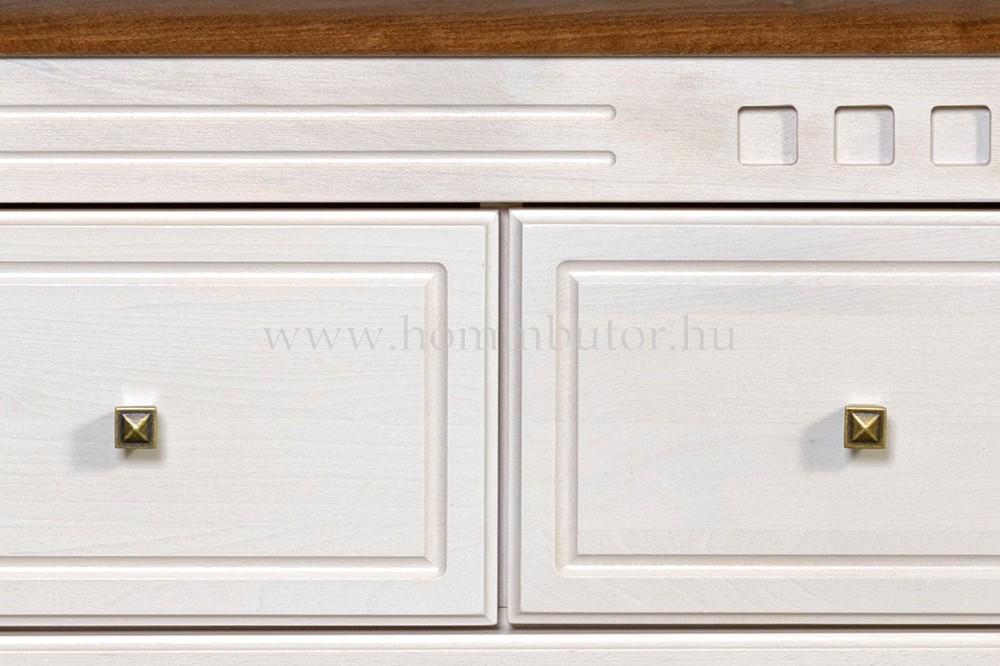 CONCERTO CASTELLO TV-állvány 2 fiókos polcos 157x49 cm