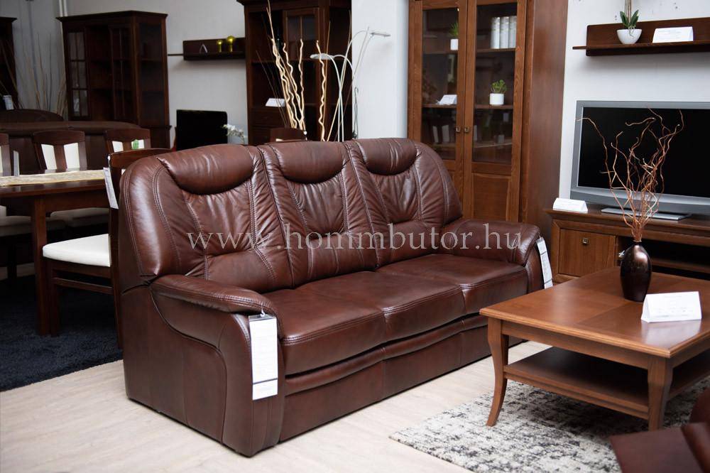 DANDELION 3 üléses valódi bőr kanapé 210x105 cm