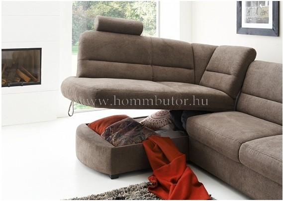 DEBORA kis méretű (250x170cm) L-alakú sarok ülőgarnitúra, ágyazható