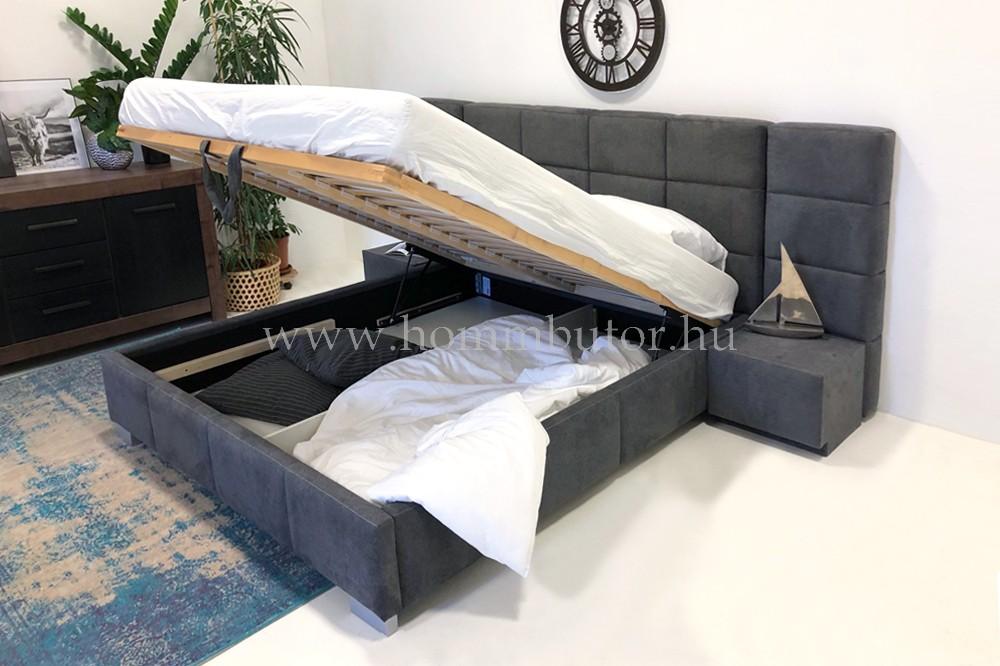 DORINA ágyneműtartós ágykeret 160x200 cm 2 db éjjeliszekrénnyel és 2 db panellel