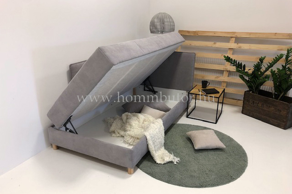ETERNAL dupla rugós sarokheverő ágyneműtartóval 90x200 cm
