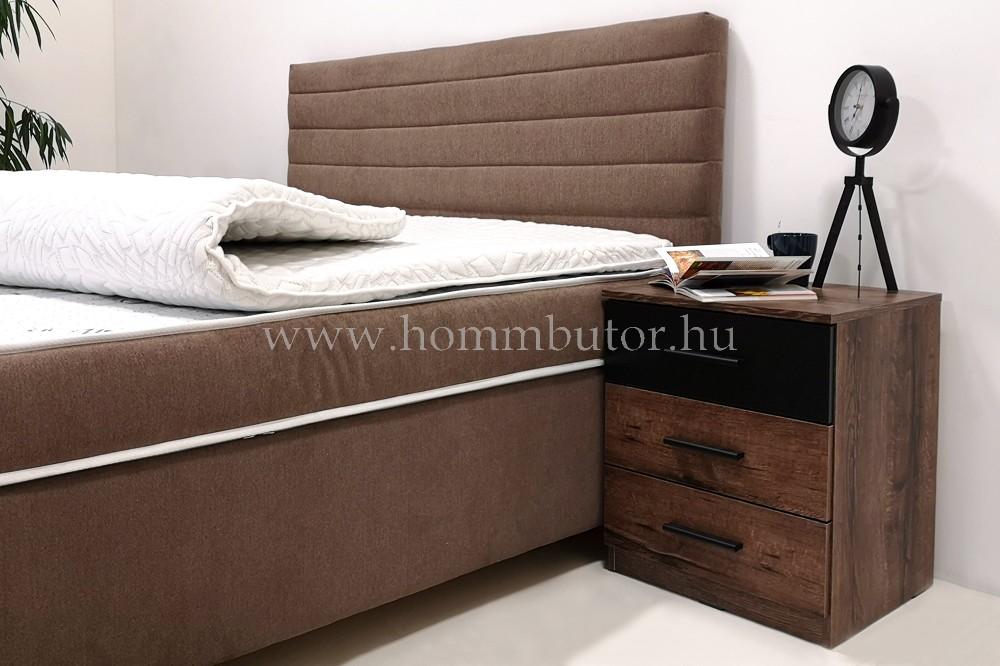EVORA ágyneműtartós boxspring ágy táskarugós matraccal 160/180x200 cm