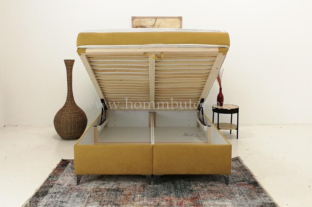 EVORA boxspring típusú táskarugós franciaágy (ágyneműtartóval) 160/180x200 cm