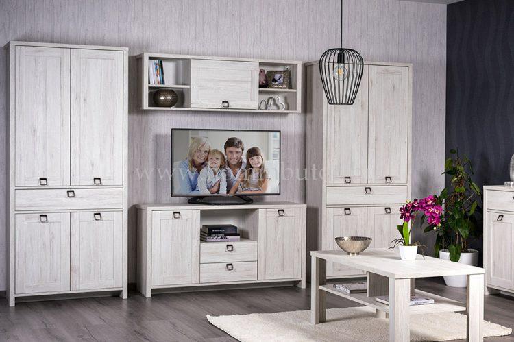 FARMER elemes nappali bútorcsalád kb. 317x198x41 cm * TV-állvány 2 ajtós 2 fiókos *