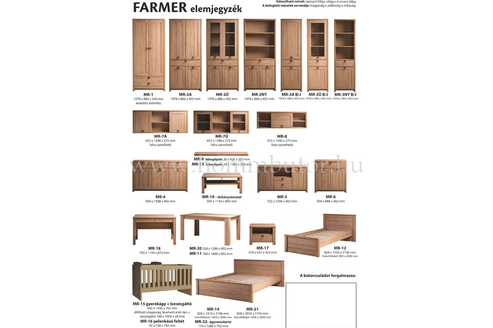 FARMER vitrines szekrény 58x198 cm