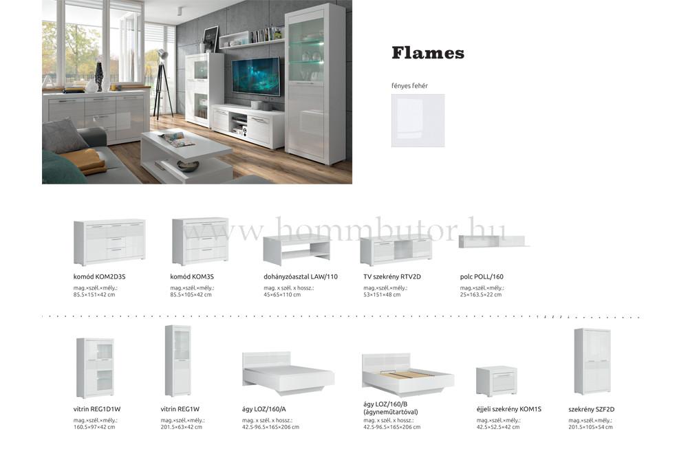 FLAMES elemes hálószoba bútorcsalád