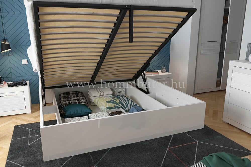 FLAMES fix vagy ágyneműtartós ágykeret 160x200 cm