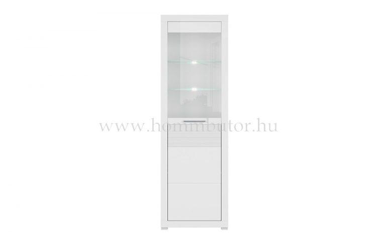 FLAMES vitrines szekrény világítással, 1 ajtós 63x202 cm