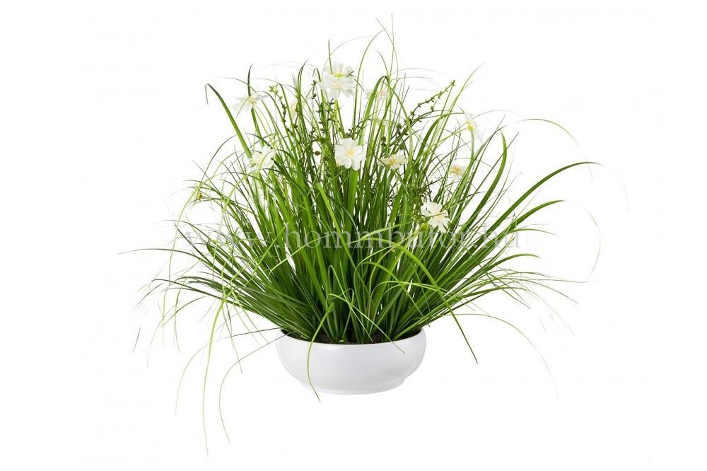 FÜVEK PILLANGÓVIRÁGGAL élethű növény dekoráció 40 cm magas