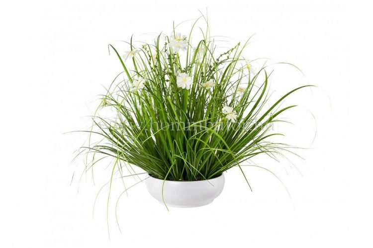 FÜVEK PILLANGÓVIRÁGGAL élethű növény dekoráció 45cm magas