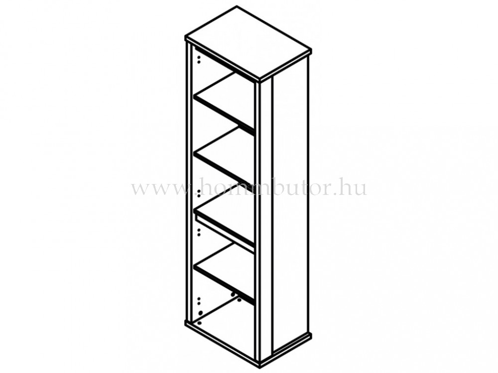 FREE vitrines szekrény 1 ajtós 1 üvegajtós 59x198 cm