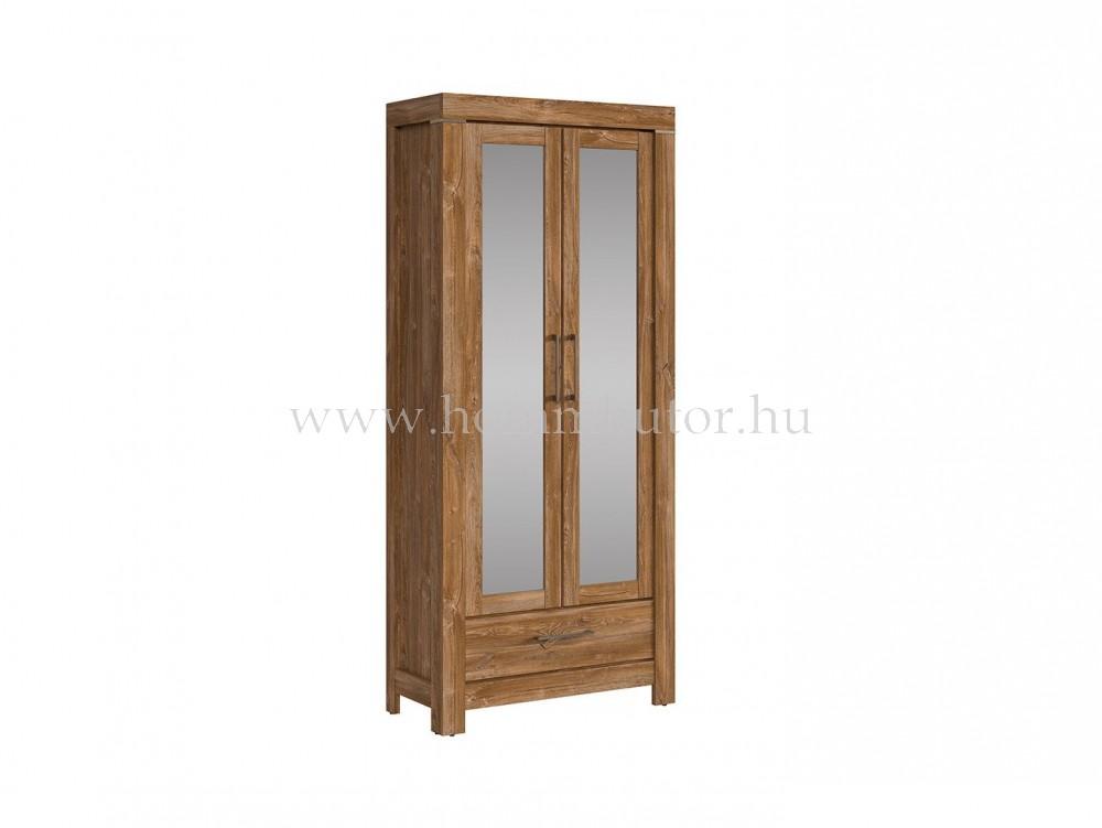 GENT szekrény 2 tükrösajtós 1 fiókos 88x201 cm