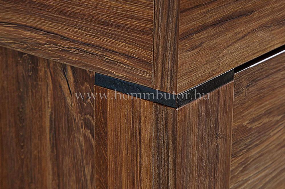 GENT vitrin 2 üvegajtós 2 fiókos 98x201 cm