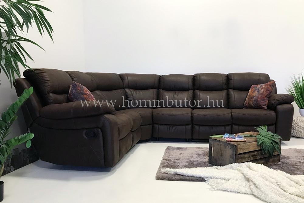 RAFAEL nagy méretű (315x255cm) L-alakú sarok ülőgarnitúra, relax funkcióval