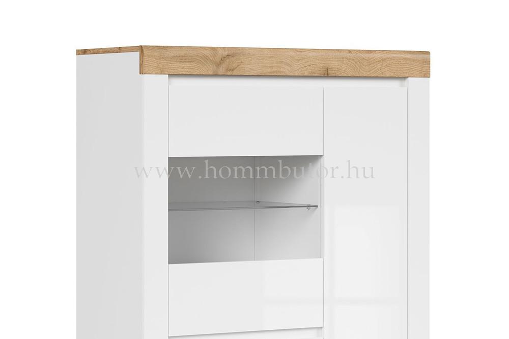 HOLTEN vitrin 1 üvegajtós 2 ajtós 98x157 cm