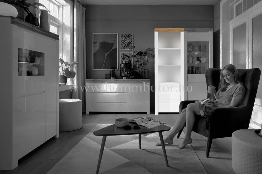 HOLTEN szekrény 3 fiókos 3 polcos 68x204 cm
