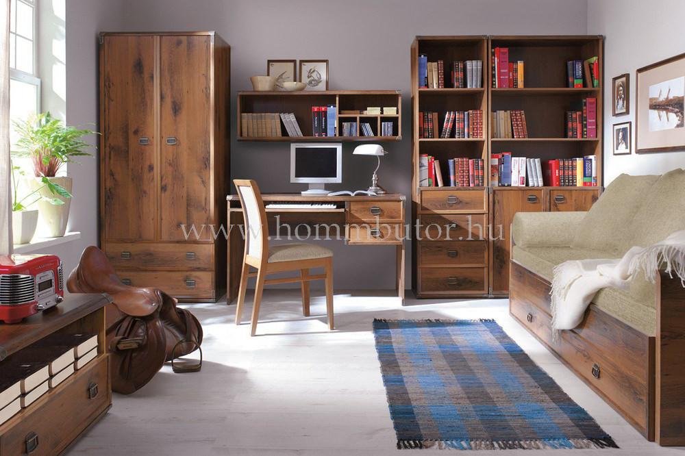 INDIANA szekrény 4 fiókos 3 polcos 50x196 cm