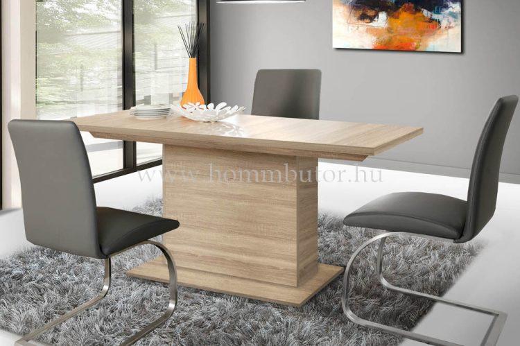 INGRID étkezőasztal 160x90 cm bővíthető sonoma tölgy színben