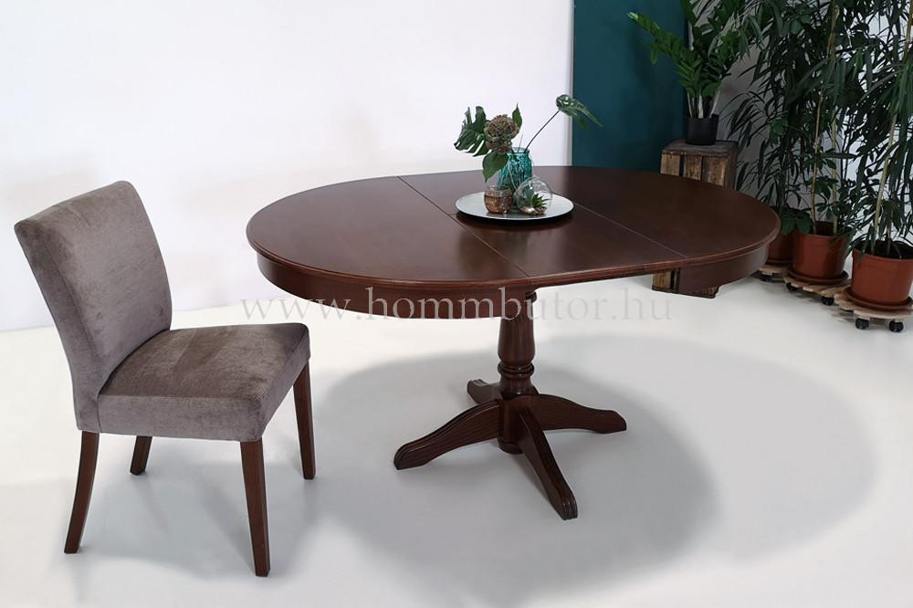 ÍRISZ étkezőasztal Ø110 cm bővíthető Toscana páccal
