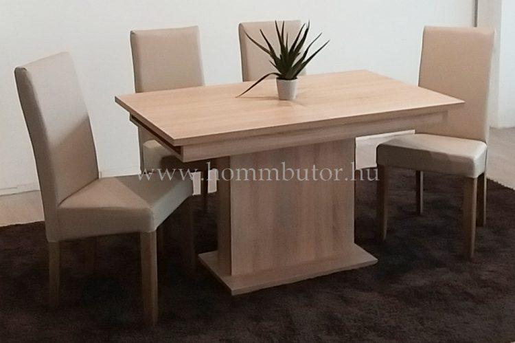 K-170 étkezőasztal 130x80 cm bővíthető világos sonoma tölgy színben
