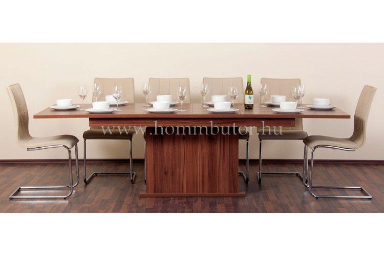 K-260 étkezőasztal 180x100 cm bővíthető dijoni dió színben