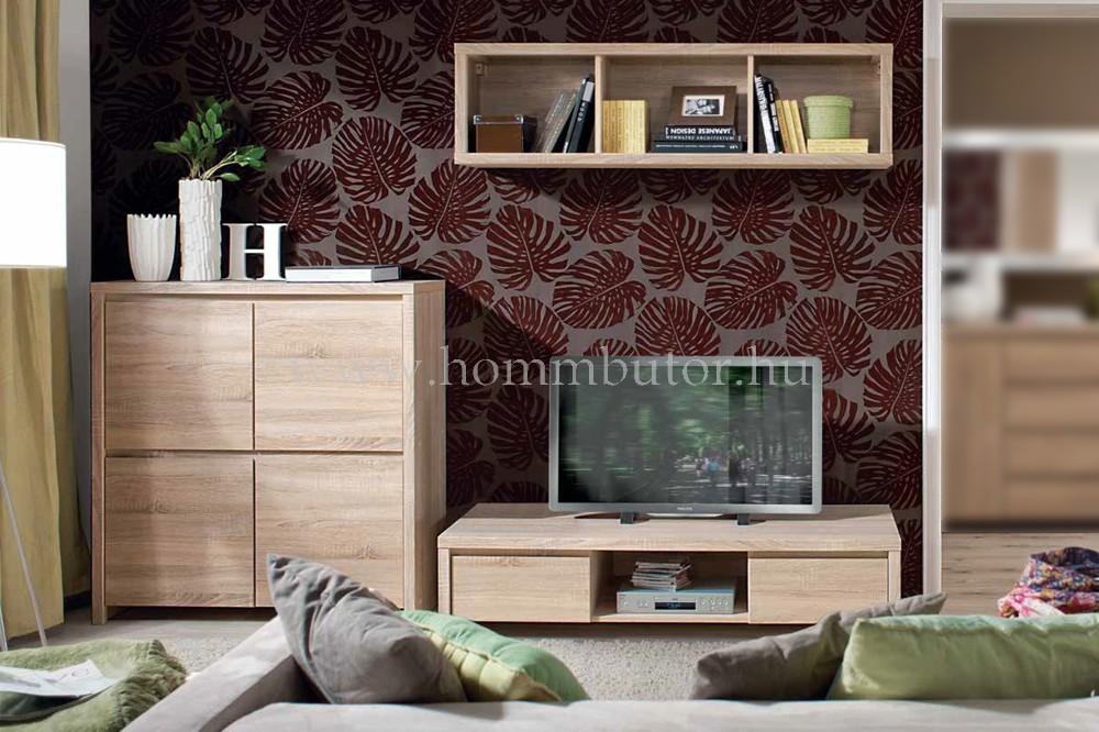 KASPIAN TV-állvány 2 fiókos polcos 144x34 cm
